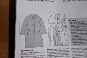 Technische Zeichnung Mantel Oktober